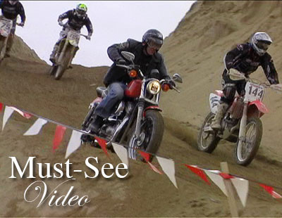 Must-See Video: Motocrossing on a Harley