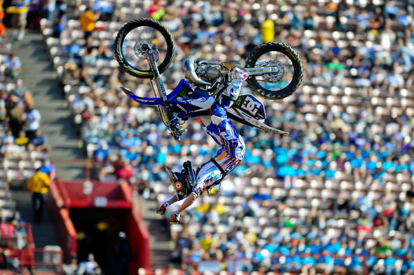 Monster Energy's Nate Adams Takes Bronze in Moto X Freestyle
