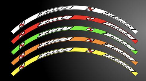 Rim Sticker Design Zing Racing Rim Stickers