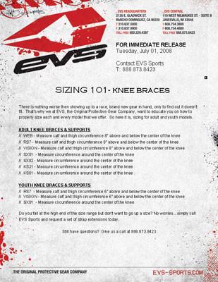 EVS: Sizing 101 - Knee Braces