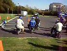 Pit bike slow race at Yamaha